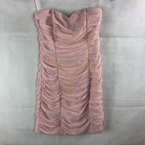 H&M Blush Pink Sweetheart Pleated Party Dress 6